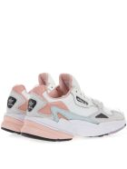 Adidas Originals Falcon White & Pink Mesh & Suede Sneakers - White/pink