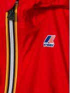 K-Way Red Contrast Zip Up Jacket - Rosso