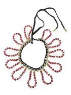 AREA Crystal Loop Fringe Choker - Multicolor