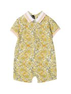 Young Versace Patterned Onesie - Bianco/oro