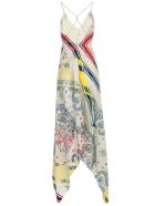 Golden Goose Dress Blancket Thin Strap Silk Fantasy