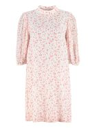 Ganni Printed Georgette Dress - White