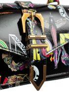 Versus Versace Printed Small Shoulder Bag - E Multi Blk Antique Gold