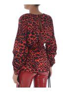 Federica Tosi Leopard Blouse - Rosso/nero