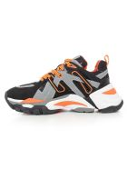 Ash Flash Dark Sneakers - Blk Dark Grey Orange