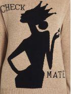 Boutique Moschino 'check Mate' Sweater - Beige