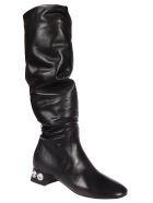 Miu Miu Rockstud Boots - Nero
