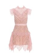 self-portrait Self Portrait Self-portrait Lace Mini Dress - PINK