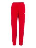 MSGM Logo Print Sweatpants - RED