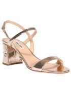 Miu Miu Sandals With Crystals - Gold