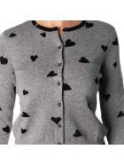 Sun 68 Wool And Cotton Cardigan - Light grey - dark grey