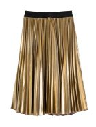 Givenchy Pleated Skirt In Gold Lamé - Metallic
