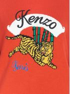 Kenzo 'bamboo Tiger' Sweater - Red