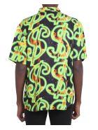 SSS World Corp Fire Hawaiian Shirt - Black
