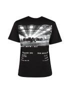 McQ Alexander McQueen Printed Cotton T-shirt - black