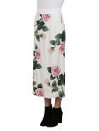 Dolce & Gabbana High-rise Floral Skirt - White