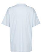 Burberry Cotton Carrick T-shirt - Pale blue