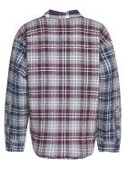 Natasha Zinko Check Shirt - Blu/rosso