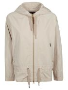 Woolrich Zipped Hooded Jacket - White