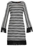 Missoni Bicolor Geometric Dress - Black