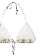 Zimmermann Bowie Crochet Bikini - Celeste bianco multi