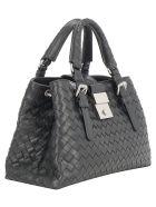 Bottega Veneta Roma Handbag - Nero/silver