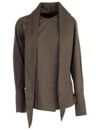Eudon Choi Shirt W/scarf On Neck - Khaki
