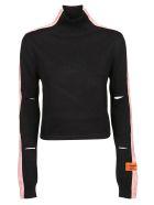 HERON PRESTON Cut Out Detailed Sweater - Black Salmon
