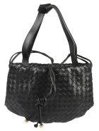 Bottega Veneta Woven Shoulder Bag - Black/Gold