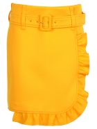 Prada Prada Ruffle-trim Skirt - YELLOW