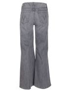 Mother Grey Cotton Blend The Roller Jeans - Grey