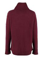 Max Mara Studio Acciuga Wool And Cashmere Pullover - Burgundy