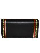 Versace 90s Vintage Logo Wallet - Black