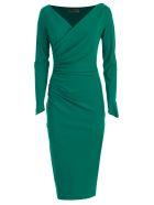 La Petit Robe Di Chiara Boni Dress L/s V Neck - Jade