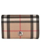 Burberry Lark Check Continental Wallet - Black White
