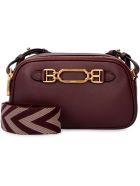Bally Venni Leather Shoulder Bag - Red-purple or grape