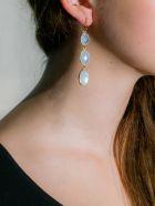 Bianca Baykam Crystal Detail Earrings - Bianco