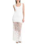 Sonia Rykiel Long Marcramé Dress - Bianco
