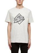 A.P.C. Short Sleeve T-Shirt - Ecru nero