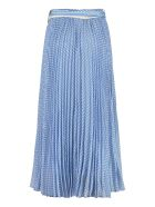 Zimmermann Sunray Printed Pleated Skirt - Blue