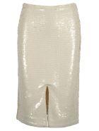 Ganni Ganni Sequins Midi Skirt - EGRET