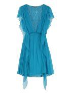 Alberta Ferretti Ruffled Chiffon Dress - Blue