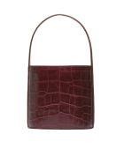 STAUD Embossed Bucket Bag - Red