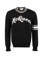Alexander McQueen Cotton Crew-neck Sweater - black