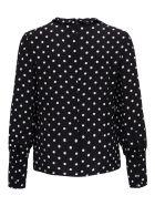 RED Valentino Crepe Polka Dot Sweater - Black