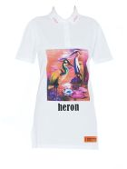 HERON PRESTON Heron Birds Polo Dress - Multicolor