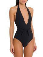 Tory Burch Solid Knotted One-piece Swimwear - Nero