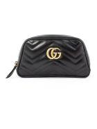 Gucci Black Gg Marmont Wrist Wallet - Nero