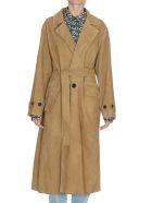 Golden Goose Elle Leather Coat - Olive