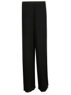 Max Mara Pianoforte Max Mara Pleated Flared Trousers - Black